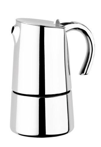 9. BRA Bella Espressokocher Edelstahl 18/10, 6 Tassen