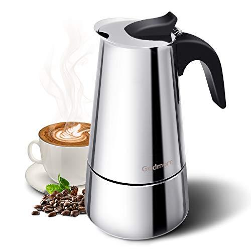 2. Godmorn Stovetop Espressokocher Edelstahl6 Tassen